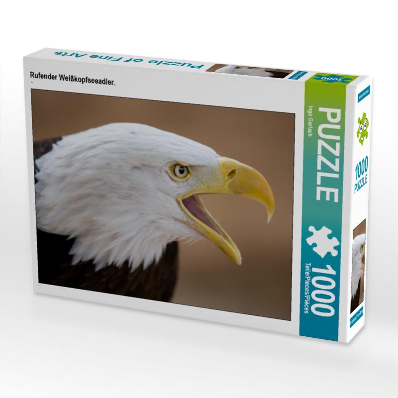CALVENDO Puzzle Rufender Weißkopfseeadler. 1000 Teile Lege-Größe