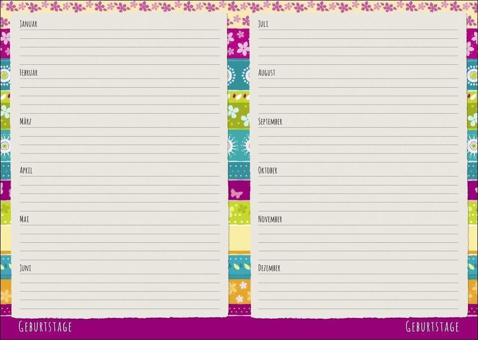 Streifen Floral Schülerkalender A5  - 2022
