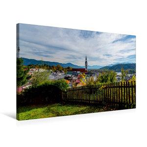 Premium Textil-Leinwand 75 cm x 50 cm quer Bad Tölz mit Isarwinkel