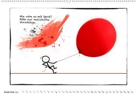 OLE LIEBT ROT (Wandkalender 2021 DIN A2 quer)