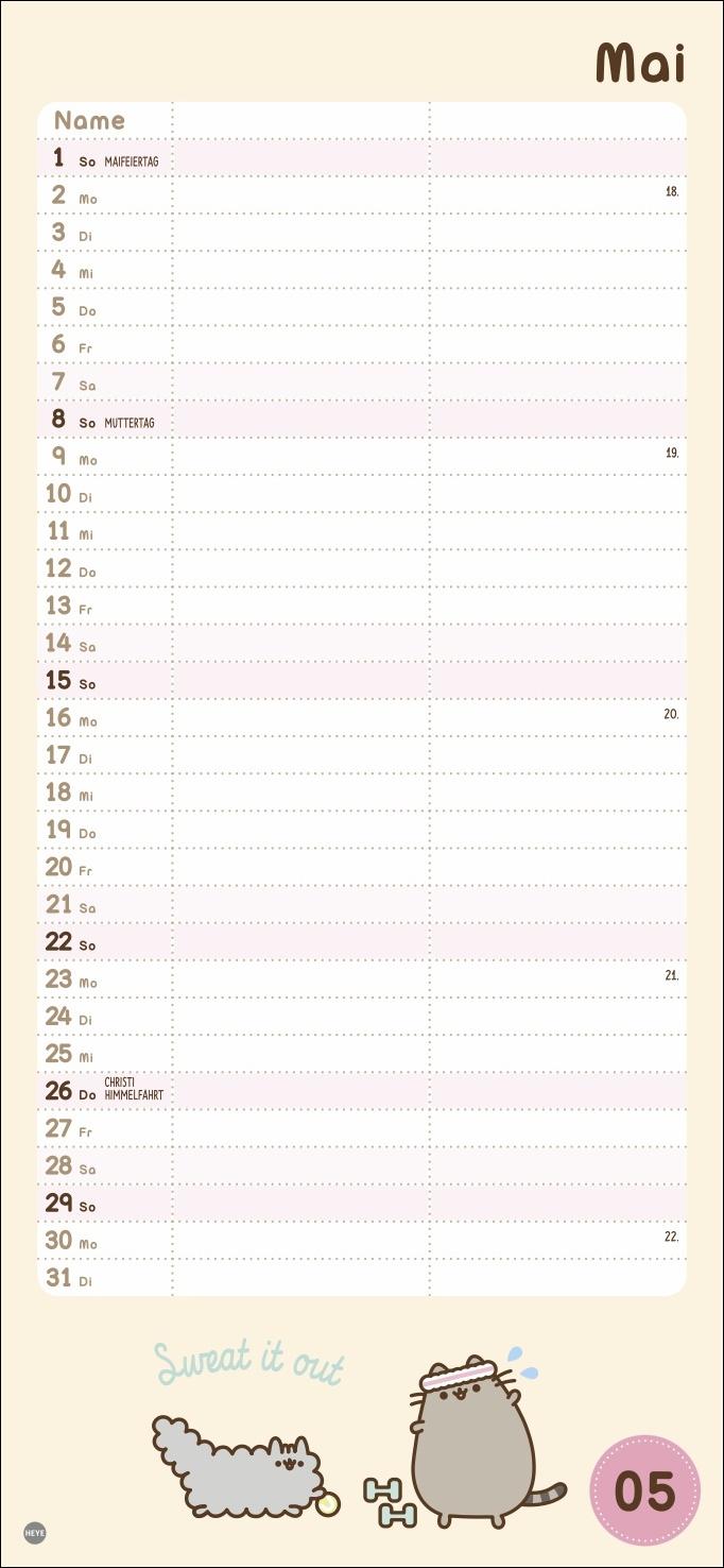 Pusheen Planer für zwei Kalender 2022