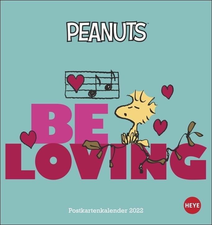 Peanuts Postkartenkalender 2022