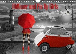 Oldtimer und Pin-Up Girls by Mausopardia (Wandkalender 2021 DIN