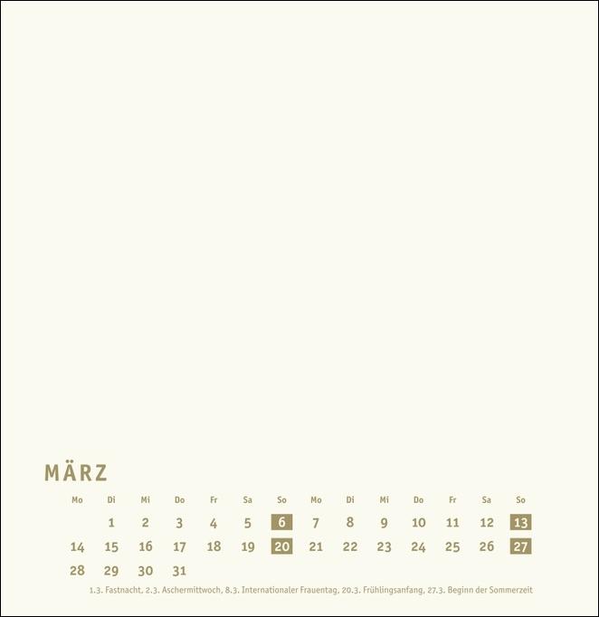 Bastelkalender gold groß 2022