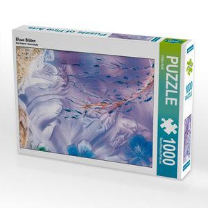 CALVENDO Puzzle Blaue Bl?ten 1000 Teile Puzzle hoch