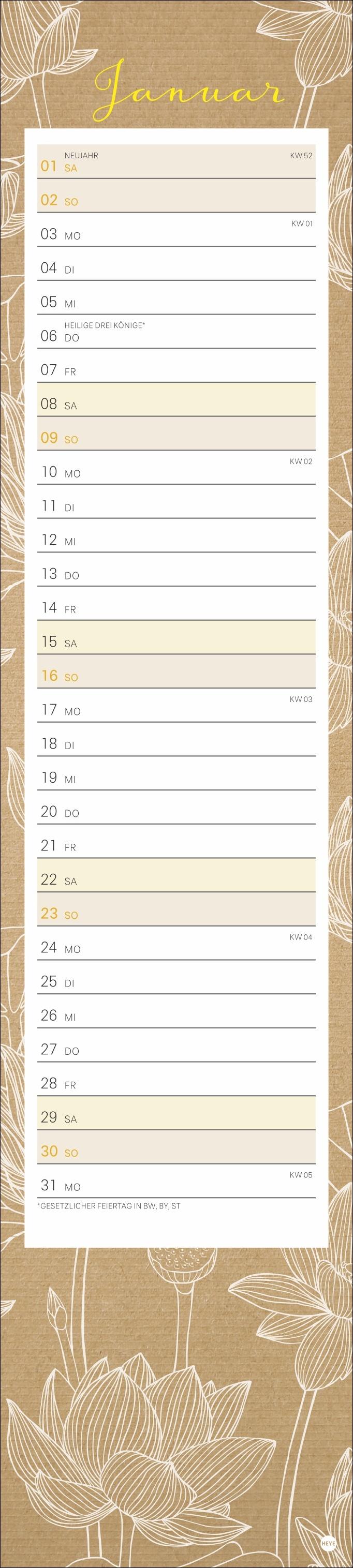 Chalk Drawing long Kalender 2022
