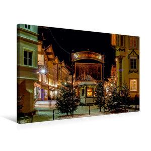 Premium Textil-Leinwand 75 cm x 50 cm quer Eingang zum Weihnacht