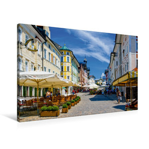Premium Textil-Leinwand 90 cm x 60 cm quer Marktstraße