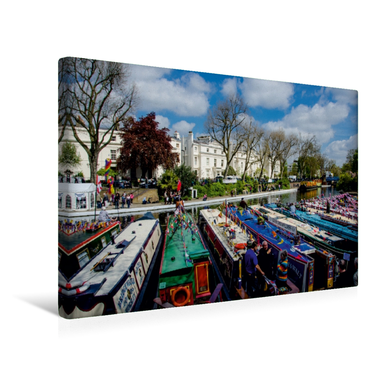Premium Textil-Leinwand 45 cm x 30 cm quer Little Venice Cavalca