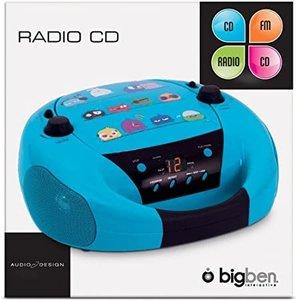 BigBen Radio CD-Player CD52, Birds, Kinder-CD-Radio, tragbar, blau