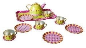 Bino 83388 - Kinder-Teeset für 4 Personen auf Tablett