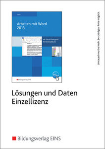 Arbeiten mit Word 2013. CD-ROM
