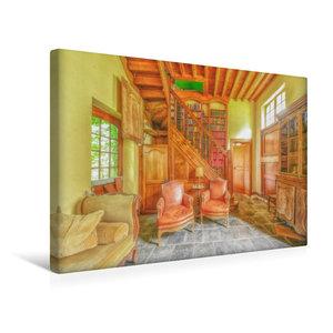 Premium Textil-Leinwand 45 cm x 30 cm quer Die gem?tliche Bibliothek