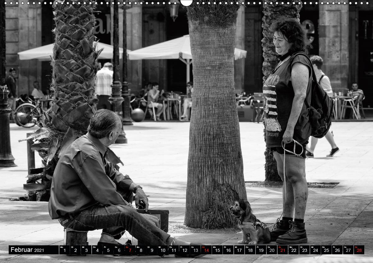 Streetlife Barcelona (Wandkalender 2021 DIN A2 quer)