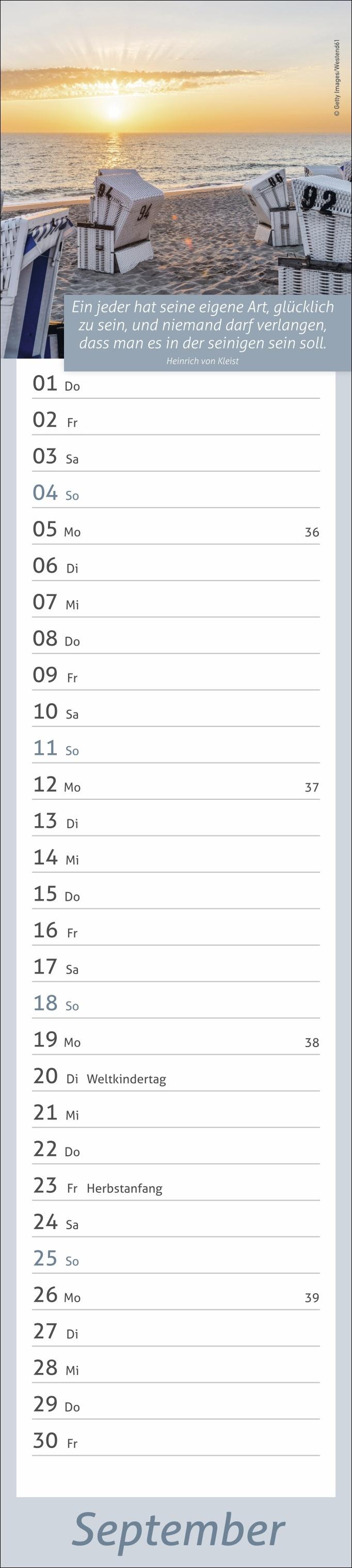 times&more Tage voller Glück long Kalender 2022