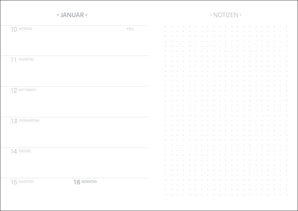 Tropical Leaves Kalenderbuch A5 Kalender 2022