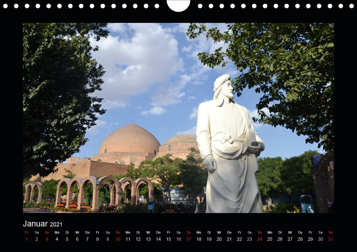 IRAN 2021 (Wandkalender 2021 DIN A4 quer)