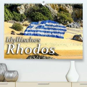 Idyllisches Rhodos (Premium, hochwertiger DIN A2 Wandkalender 2022, Kunstdruck in Hochglanz)