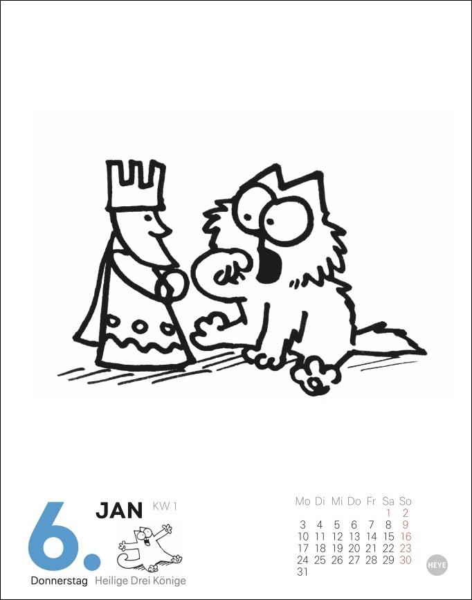 Simons Katze Tagesabreißkalender 2022