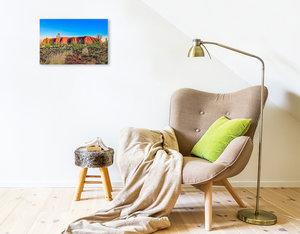 Premium Textil-Leinwand 45 cm x 30 cm quer Australien - Rotes Herz im Zentrum