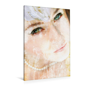 Premium Textil-Leinwand 80 cm x 120 cm  hoch Portrait einer Wass