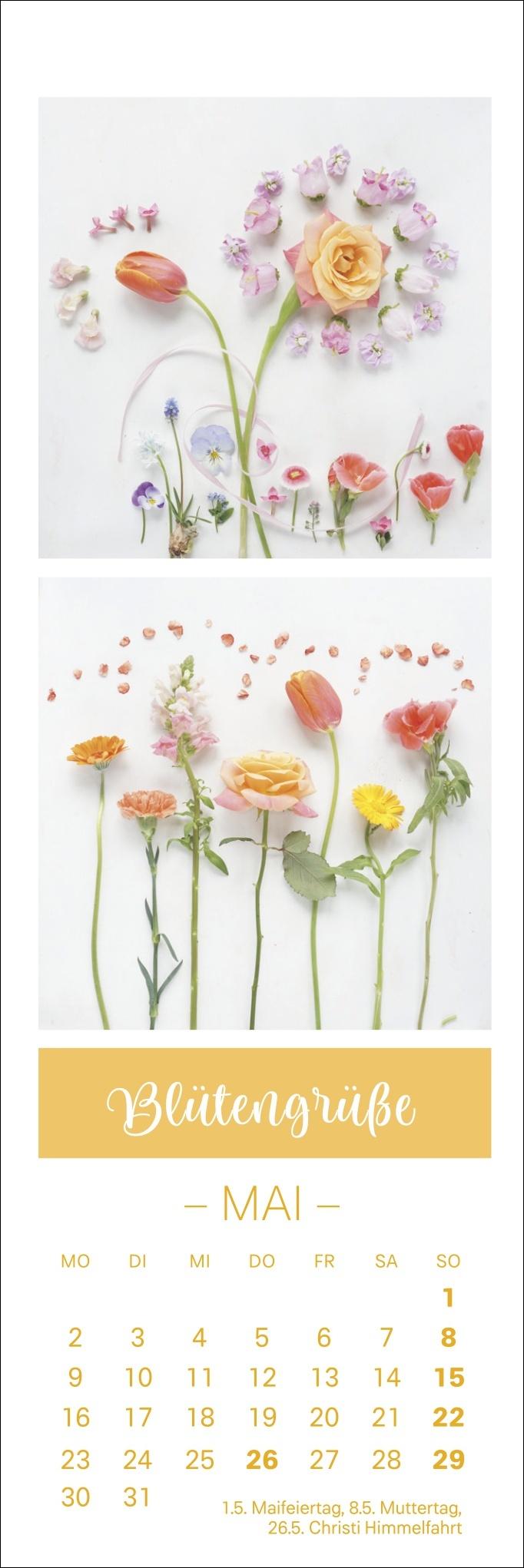 Smettikage Blütengrüße Lesezeichen & Kalender 2022