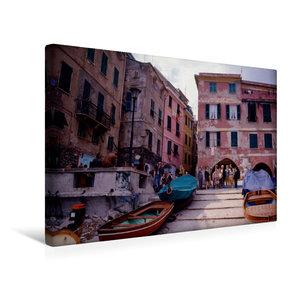 Premium Textil-Leinwand 45 cm x 30 cm quer Cinque Terre, Hafenst?dchen; Italien