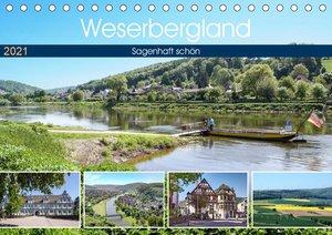 Weserbergland - sagenhaft schön (Tischkalender 2021 DIN A5 quer)