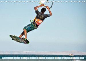 Kitesurfen - Wasser, Wind und coole Typen (Wandkalender 2022 DIN A4 quer)