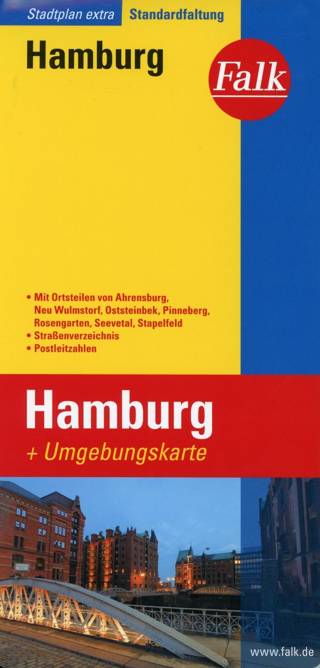 Falk Stadtplan Extra Standardfaltung Hamburg 1:22 500-1:39 000
