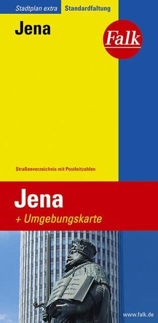 Falk Stadtplan Extra Standardfaltung Jena