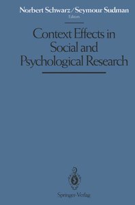 Context Effects in Social and Psychological Research