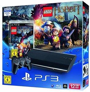 PlayStation 3 Konsole - 12 GB - Schwarz inkl. Lego: Der Hobbit