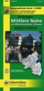 Wandergebiet mittlere Nahe mit Rheinhessischer Schweiz (W) 1 : 2