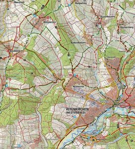 Naturpark Rhein-Westerwald Blatt 2 (Nord). 1 : 25 000
