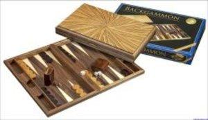 Philos 1127 - Backgammon: Mykonos, groß aus Walnuss & Zebrano
