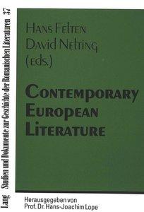 Contemporary European Literature