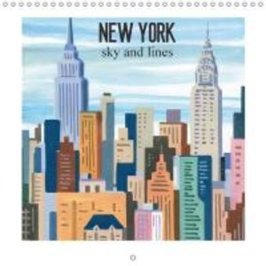 NEW YORK sky and lines (Wall Calendar 2015 300 × 300 mm Square)
