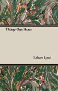 Things One Hears