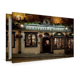 Premium Textil-Leinwand 120 cm x 80 cm quer Greyfriars Bobby Pub