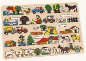 Bino 88073 - Steckpuzzle: Bauernhof, maxi