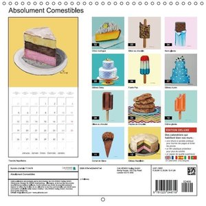 Absolument Comestibles (Calendrier mural 2015 300 × 300 mm Squar