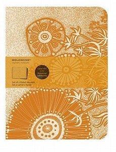 Moleskine Cover Art Flower Fantasy. Set of 2 Ruled Journals