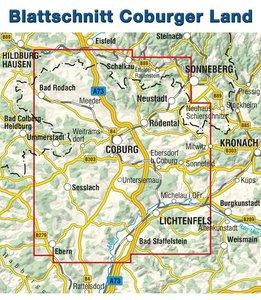 Rad- und Wanderkarte Coburger Land 1 : 33 000