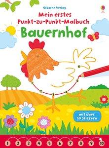 Mein erstes Punkt-zu-Punkt-Malbuch: Bauernhof