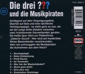 Die drei ??? 052 und die Musikpiraten. (drei Fragezeichen). CD