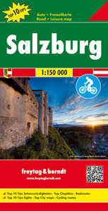 Salzburg, Top 10 Tips, Autokarte 1 : 150.000