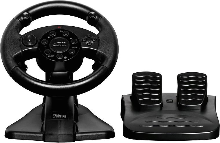 DARKFIRE Racing Wheel, black - zum Schließen ins Bild klicken