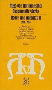 Reden und Aufsätze II. (1914 - 1924)