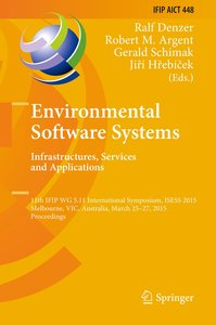 Environmental Software Systems. Infrastructures, Services and Ap